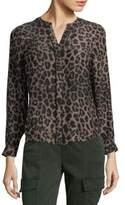 Joie Leopard-Print Silk Button-Down Shirt
