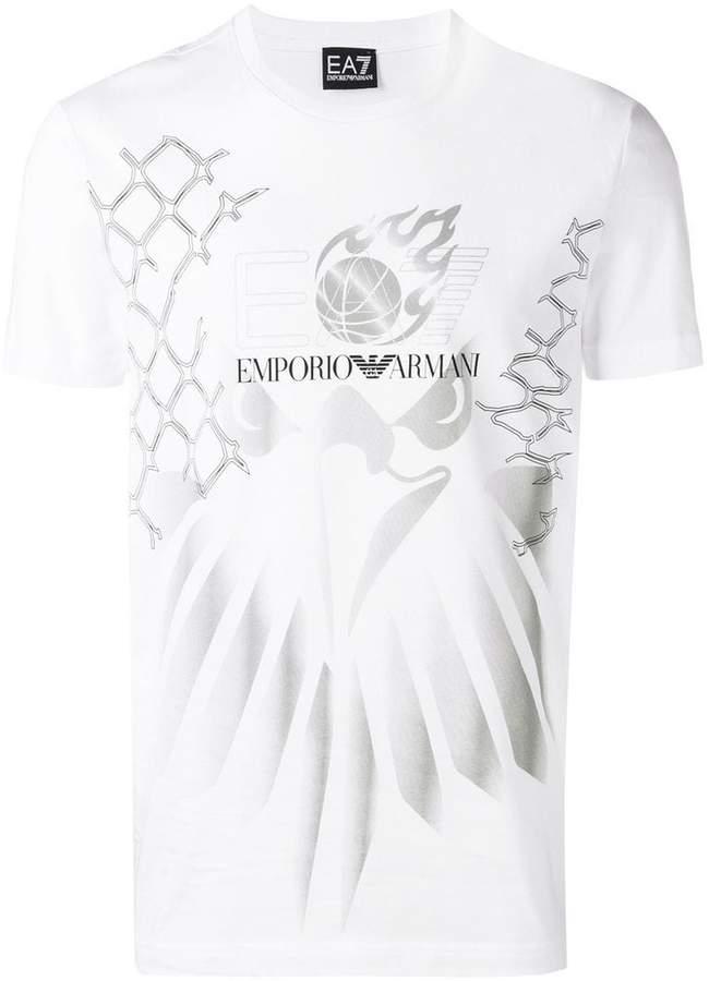 Emporio Armani Ea7 contrast logo T-shirt