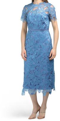 Short Sleeve Cut Floral Dress