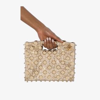 Rosantica gold Dinastia beaded clutch bag
