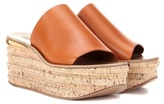 Chloé Leather And Cork Wedges