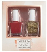 Lulu 2-Pack Glitter Nail Polish Set - Red/ Gold