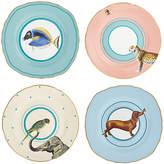 Yvonne Ellen Animal Cake Plates, Dia.16cm, Multi, Set of 4