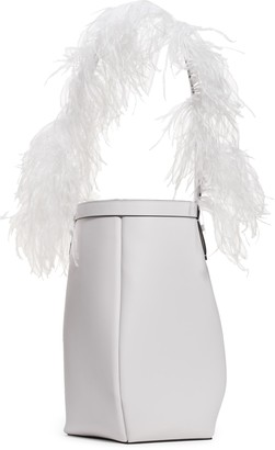Valentino By Your Side Ostrich Feather & Leather Bucket Bag