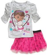 Disney Kids Set, Little Girls Doc McStuffins Shirt and Scooter Set