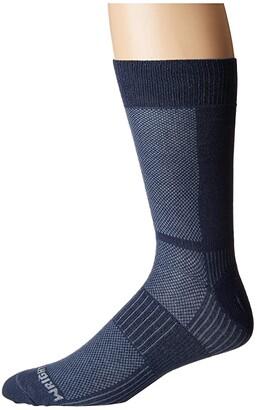 Wrightsock Coolmesh II Crew (Oxford Blue) Crew Cut Socks Shoes