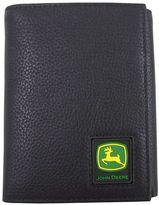 John Deere Men's Leather Trifold Wallet
