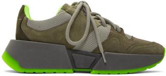 MM6 MAISON MARGIELA Khaki Chunky Low-Top Sneakers
