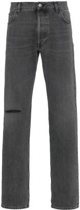 Balenciaga Ripped Knee Straight-Leg Jeans
