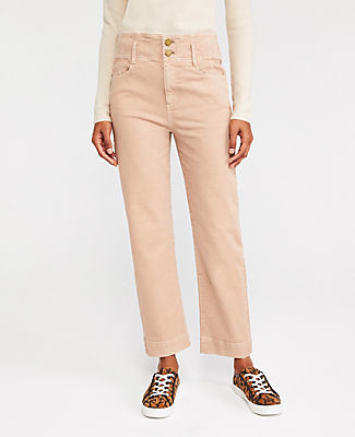 Ann Taylor Petite Sculpting Pocket Corset High Waist Straight Jeans