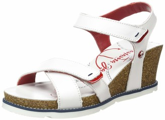 Panama Jack Women's Vieri Navy Ankle Strap Sandals
