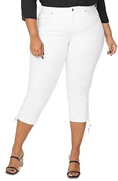 Nydj Plus Capri Jeans with Drawcord Hem in Optic White
