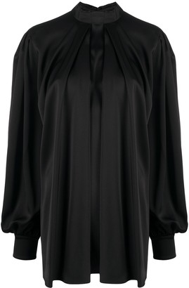 Alexander McQueen Pleated Silk Blouse