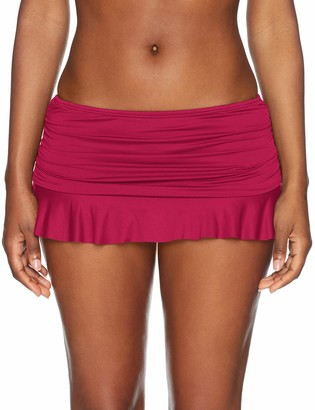 La Blanca Women's Island Goddess Skirted Ruffle Hipster Bikini Swimsuit Bottom