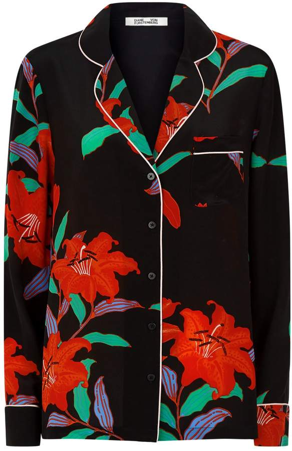 Diane von Furstenberg Printed Pyjama Shirt