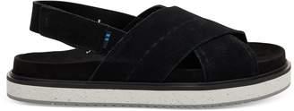 Toms Black Suede Marisa Women's Sandals