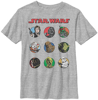 Fifth Sun Boys' Tee Shirts ATH - Star Wars Athletic Heather Retro Characters Tee - Boys