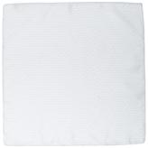 Jaeger Silk Straw Print Pocket Square, Light Grey