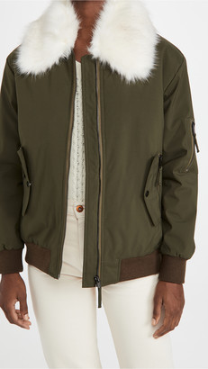 Adrienne Landau Faux Fur Jacket