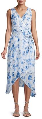 Karl Lagerfeld Paris Floral Chiffon A-Line Dress