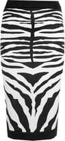 Forever Womens Celebrity Inspired Zebra Print Midi Pencil Skirt