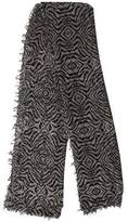 Zadig & Voltaire Printed Scallop-Trimmed Scarf
