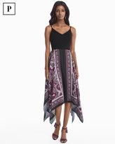 White House Black Market Petite Scarf Print Dress