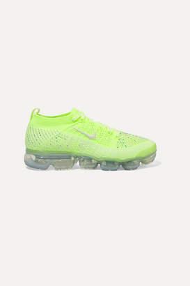 Nike Air Vapormax 2 Swarovski Crystal-embellished Flyknit Sneakers - Lime green