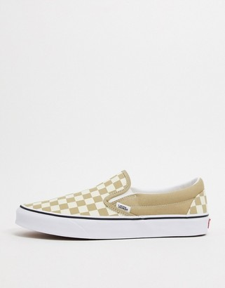 Vans Classic Slip-On sneakers in brown checkerboard