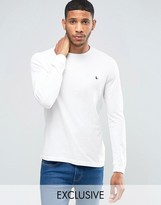 Jack Wills Dunsford Long Sleeved T-Shirt in White