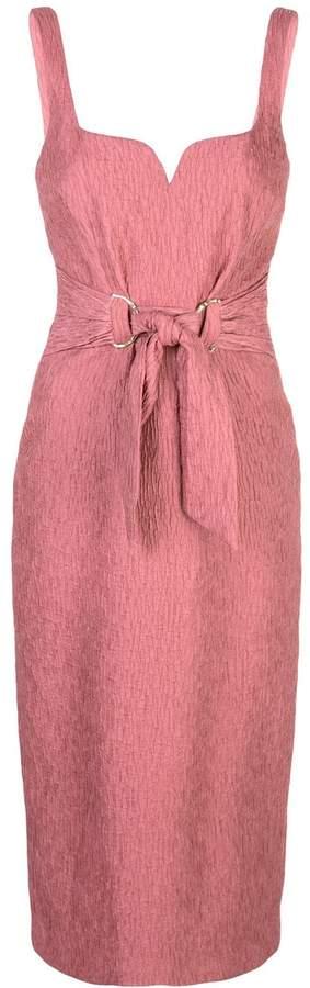 Rebecca Vallance tie-waist textured dress