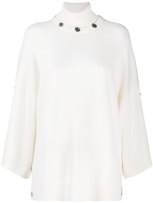 Boutique Moschino Buttoned-Collar Jumper