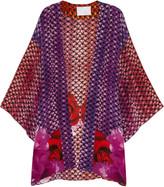 Athena Procopiou Dusk at Majorelle printed silk beach robe