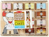 Melissa & Doug Stacking Wooden Chunky Puzzle - Counting Cakes