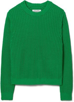 Tory Burch Performance Cotton Side-Stripe Sweater