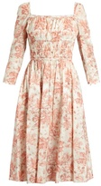 Brock Collection Dorothy square-neck floral-print cotton dress