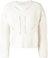 Isabel Marant Gane sweater - women - Cotton/Wool/Polybutylene Terephthalate (PBT) - 42