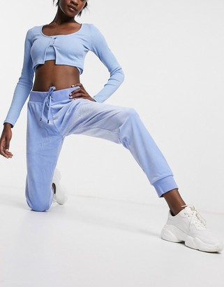 Juicy Couture co-ord super soft velour joggers in blue