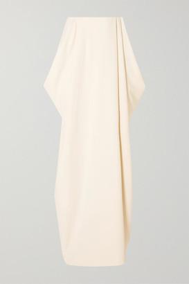 The Row Nika Draped Cady Maxi Skirt - Ivory