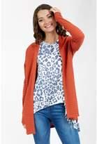 Select Fashion Fashion Womens Orange Rib Fashion Cardigan - size 6