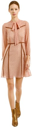 Coach Glitter Stars Georgette Dress