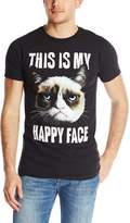 T-Line Men's Grumpy Cat This Is My Happy Face T-Shirt