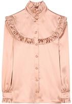 Saint Laurent Ruffled Silk Blouse