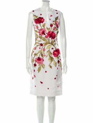 Naeem Khan Linen Knee-Length Dress