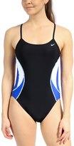 Nike Swim Team Color Block Cut Out Tank One Piece Swimsuit 34944