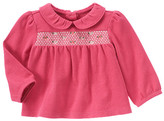 Gymboree Smocked Embroidered Top