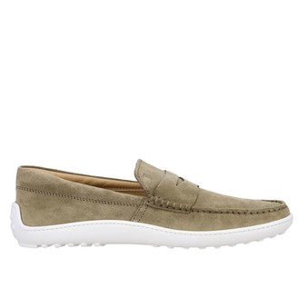 Tod's Slipper Sneakers In Suede With Rubber Sole