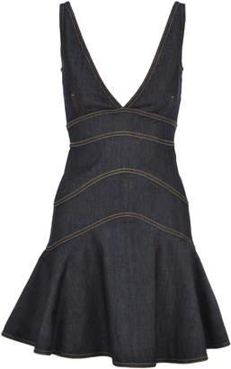 DSQUARED2 Peplum Denim Mini Dress
