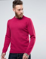Asos Lambswool Rich Crew Neck Sweater in Pink