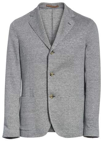 Eleventy Trim Fit Linen & Cotton Blazer